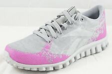 Women's Reebok Real Flex Cool Gray Pink Athletic Shoes  (6-10)