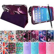 """For Samsung Galaxy Tab 3 7"""" P3200 SM-T210 Leather Flip Stand Case Cover + Stylus"""