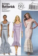 Easy Butterick Sewing Pattern Misses' Close fitting Bodice Dress 6 - 22 B5985