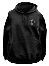 DETROIT DIESEL 71 VINTAGE DETROIT FLEECY HOODIE BLACK All sizes