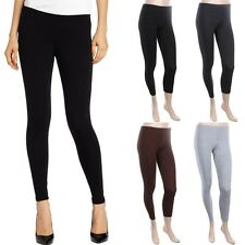 Basic Ankle Length Solid Cotton Leggings Plain Skinny  Stretchable S M L