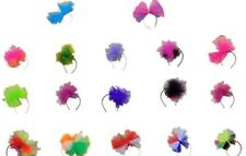 80's Alice Hair Band+Neon Flo Tutu Net Bow Hen Party Fascinator Hairband Madonna