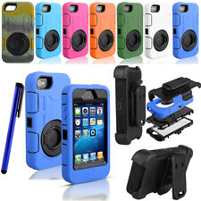 Heavy Duty Rugged  Hard Case Cover+Clip Holster For Iphone 4 4S+Pen+Film