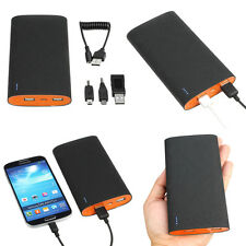 15000mAh 2-Port External Backup Battery Charger Power Bank For Cell Phone Tablet