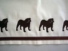Bulldog Window Valance - Your Choice of Colors - Our Original