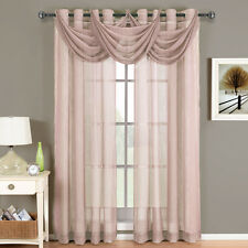 Royal Textiles Abri Mauve Grommet Crushed Sheer Curtain Panel