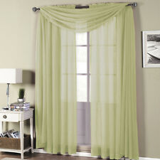 Royal Textiles Abri Spring Green Rod Pocket Crushed Sheer Curtain Panel