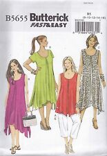 Butterick Sewing Pattern Very Easy Top Dress & Pants   Sizes 8 - 24W B6032