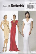 Butterick Sewing Pattern Misses close Fitting Lined Bias Dress sizes 6 -22 B5710