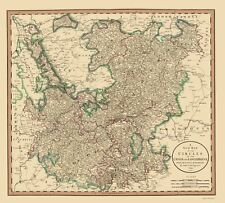 Old Germany Map - Upper and Lower Rhine - Cary 1835 - 23 x 25.57