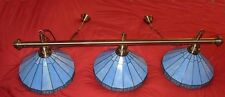 REPRODUCTON ANTIQUE BRASS POOL SNOOKER TABLE LIGHT.TIFFANY SHADE LIGHTING OFFER