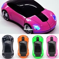 Car Shape 3D Optical USB Wireless Mouse Mice For Computer PC Laptop 6 Colors