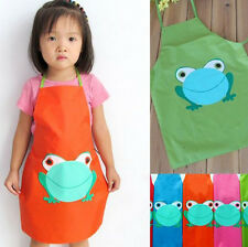 1pc Frog style Boys Girls Kids Childrens Cooking kitchen Art Paint Smock Apron