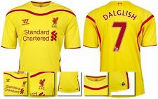 *14 / 15 - WARRIOR ; LIVERPOOL AWAY SHIRT SS / DALGLISH 7 = KIDS SIZE*