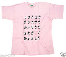 Pink Chinese Kong Fu Panda Play Tai Chi 24 Style Pattern Men's Cotton T-Shirt