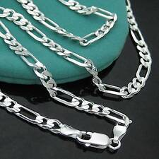 """Wholesale 5pcs 925 Sterling Silver 2mm Italy Figaro Link Chain Necklace 16""""-30"""""""