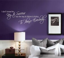 KEY TO SUCCESS OFFICE MOTIVATION WALL ART QUOTE PHRASE STICKER VINYL DECAL MURAL