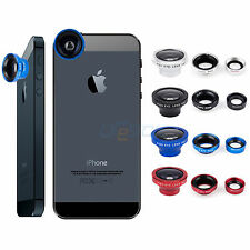 3in1 Fish Eye+Wide Angle+Micro Lens Camera Magnetic Kit for Smartphone Cellphone