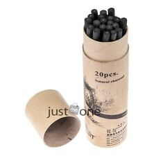 20 PCS Set Willow Charcoal Bar Pencils Sketch Drawing Painting Artist Black New