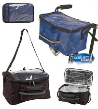 Bike Bicycle Handlebar Insulated Lunch Cool Cooler Bag Front Pannier Map Holder