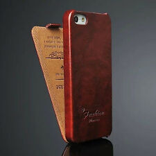 Luxury Leather Vertical Flip Fitted Cover Pouch Case For Apple iPhone 5 5G 5S SE