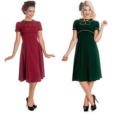 Robe Femme HELL BUNNY Mae West Années 40 50 Style Campagne