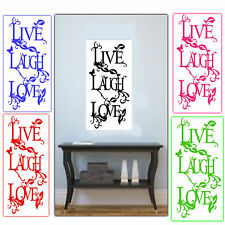 """Wall Stickers - Decals - Vinyl Wall Art - """"Live Laugh Love"""" 5 Colours to Choose"""