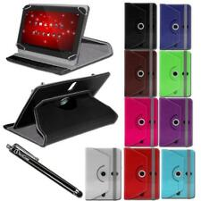 "7"" Inch Universal Leather Stand Case Cover For Android Tablets + Free Stylus Pen"