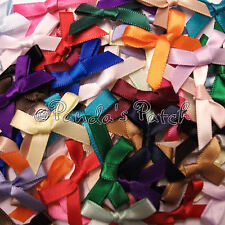 7mm Satin or Lurex Ribbon Bows 30pk 50pk or 100pk 28 Colours