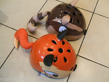 INFANT,CHILDS BIKE HELMET,FOX,CHIPMUNK,WITH TAILS & EARS,50-54cm,NEW