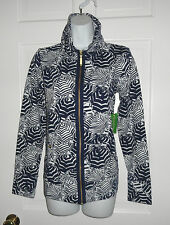 NWT LILLY PULITZER BRIGHT NAVY OH CABANA BOY LEONA ZIP UP JACKET S M