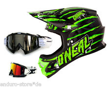 Oneal Fury Evo Helmet Crawler Downhill Dh Mtb + Two-x Race Mx Goggles