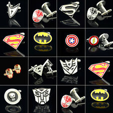 Superhero Logo Stainless Steel Cufflinks Mens Shirt Cuff links Wedding Business