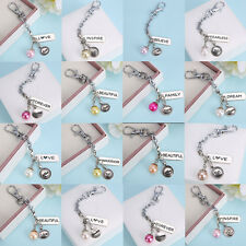 Living Memory Floating Charms Locket PEARL Letter Pendant Necklace Chain new