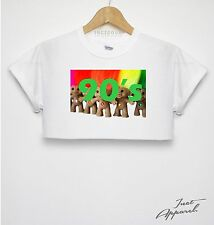 90's Troll Crop Top T Shirt Print Hipster Girls Women Street Wear Swag TV Toy