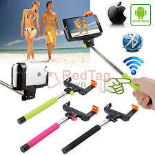 Bluetooth Shutter Extendable Handheld Selfie Stick Monopod for Samsung Iphone