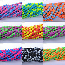 FREE SHIP Wholesale Fluorescent glass Round Charm Spacer Beads 6MM 8MM