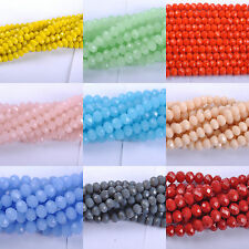 Top Quality Czech Glass Faceted Rondelle Spacer Beads Choose 8X6MM 6X4MM 10X8MM