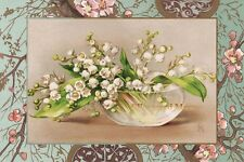 LILY OF THE VALLEY Vintage Postcard Image Photo, Card Or Art Print FF001