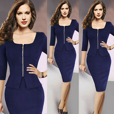 New Women Elegant Tunic Business Work Party Cocktail Pencil Sheath Wedding Dress