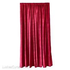 Burgundy Custom Made Divider/Partition Drapes Velvet Curtain 15 ft H Drop Panel
