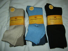 NEW   TOMMY BAHAMA Mens Fine Hosiery 3 Pair Socks  TENCEL Black/Blue/Brown