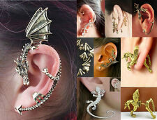 New Fashion Gothic Punk Temptation Metal Dragon Bite Ear Cuff Wrap Clip Earring
