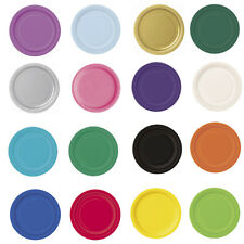 Round Paper Plates Party Solid Colours Tableware Events Catering Food 7'' & 9''