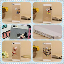 Lovely Cute Cartoon Pattern Clear Transparent Case Cover For iPhone 5s 4s 5c 5