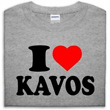 I LOVE KAVOS T SHIRT TOP HEART GIFT MEN GIRL WOMEN BOY HOLIDAY LADS FUNNY SUMMER