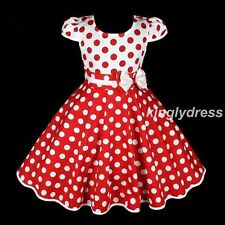 NEW Girls Spring Summer Holiday Kid Dress Wear Children White Red SZ 3-6 Z148