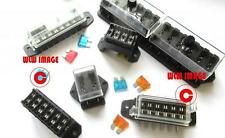 2/4/6/8/10/12 WAY + HEAVY DUTY AUTO FUSE BOX/HOLDER 12V VOLT STANDARD BLADE