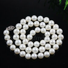GZ  AAA 7-8mm 8-9mm White Freshwater Cultured Akoya Pearl Necklaces