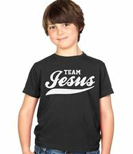 Team Jesus Funny Kids Tee Boys & Girls Childs Ages 3-13 T-Shirt Various Colours